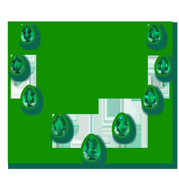Emerald-006 - set - pear shape