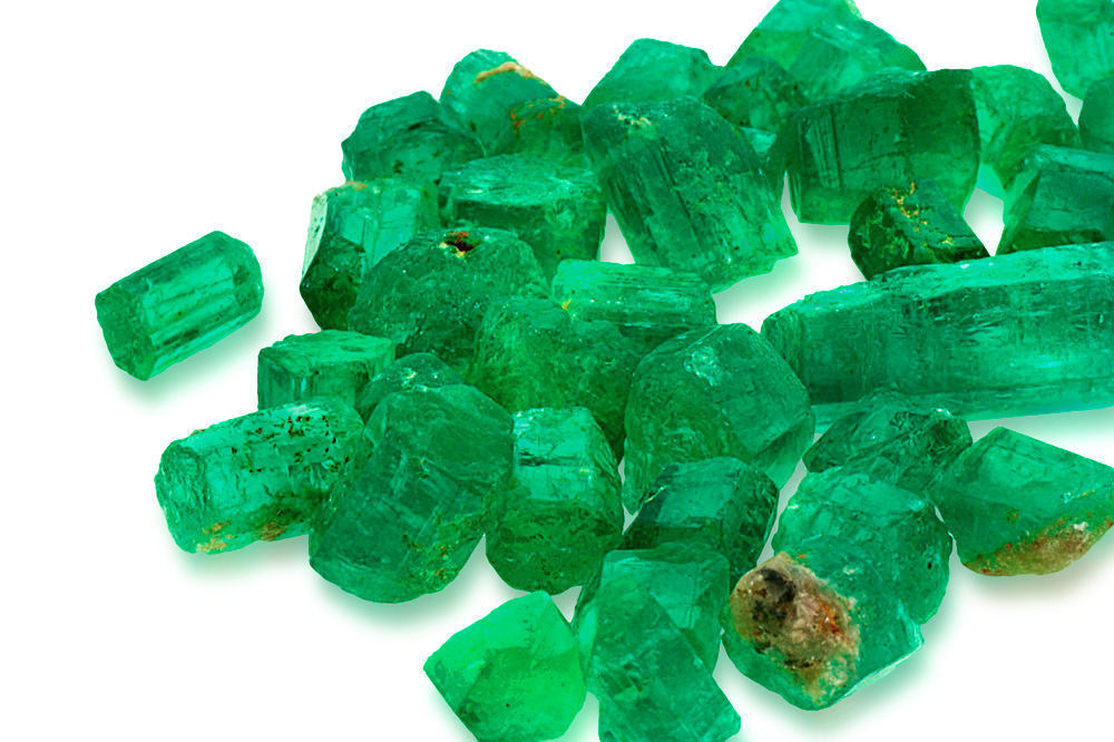 med tumbled emerald gemstone stones crystal vaults